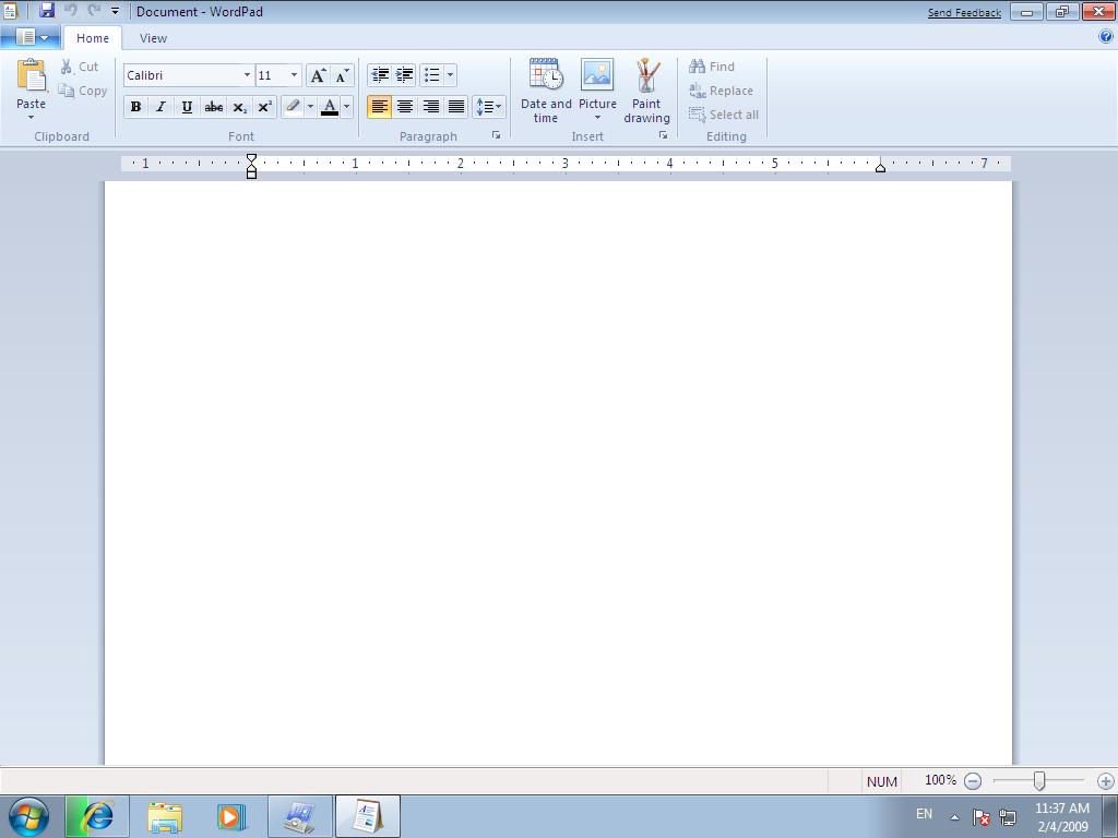 Как сделать несколько страниц в wordpad